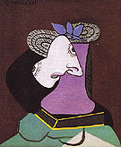 Lady in a Straw Hat 1936 - Pablo Picasso reproduction oil painting