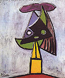 Head of a Woman Olga Picasso 1935 - Pablo Picasso reproduction oil painting
