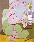 Woman with Bouquet Flowers 1936 - Pablo Picasso reproduction oil painting