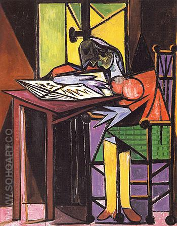 Woman Reading 1935 - Pablo Picasso reproduction oil painting