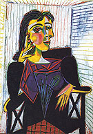 Portrait of Dora Maar Seated 1937 - Pablo Picasso reproduction oil painting