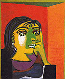 Portrait of Dora Maar 1937 - Pablo Picasso reproduction oil painting