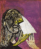 Weeping Woman 1937 - Pablo Picasso reproduction oil painting