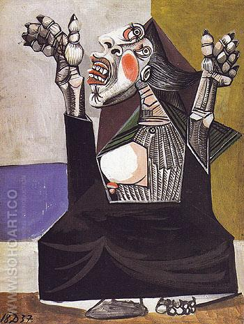 Woman Crying 1937 - Pablo Picasso reproduction oil painting