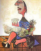 Woman with Cockerel 1938 - Pablo Picasso reproduction oil painting