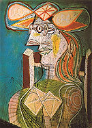 Seated Woman 1938 - Pablo Picasso reproduction oil painting