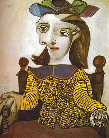 The Yellow Sweater Dora Maar 1939 - Pablo Picasso reproduction oil painting