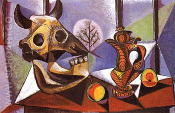 Still Life with Bulls Head 1939 - Pablo Picasso reproduction oil painting