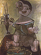 Boy with Lobster 1941 - Pablo Picasso reproduction oil painting