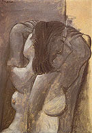 Female Nude 1941 - Pablo Picasso reproduction oil painting