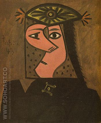 Bust of a Woman 1943 - Pablo Picasso reproduction oil painting