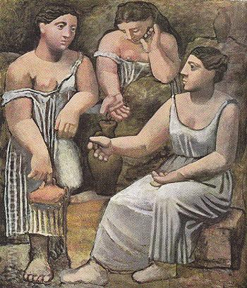 Three Women at the Spring 1921 - Pablo Picasso reproduction oil painting