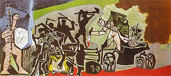 War 1952 - Pablo Picasso reproduction oil painting