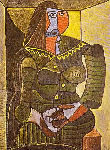 Woman in Green 1943 - Pablo Picasso reproduction oil painting