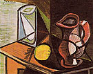 Glass and Pitcher 1944 - Pablo Picasso reproduction oil painting