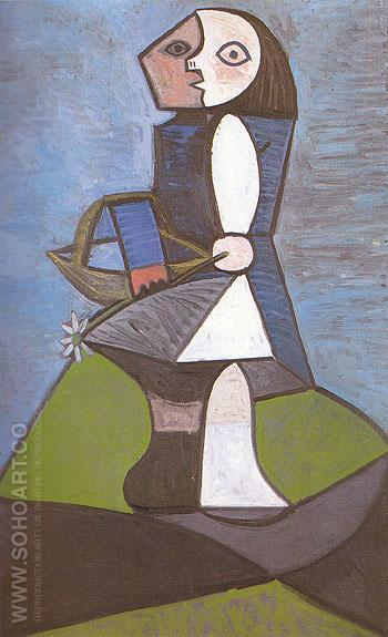 Child with Flower 1945 - Pablo Picasso reproduction oil painting