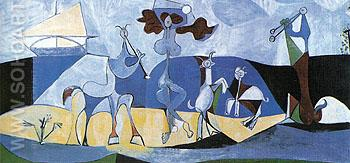 La joie de vivre Pastorale 1946 - Pablo Picasso reproduction oil painting