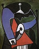 Seated Woman in an Armchair 1948 - Pablo Picasso reproduction oil painting