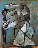 Nude Wringing Her Hair 1952 - Pablo Picasso reproduction oil painting