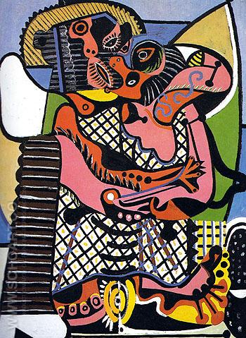 The Kiss The Embrace 1925 - Pablo Picasso reproduction oil painting