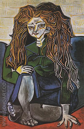 Portrait of Madame H.P. 1952 - Pablo Picasso reproduction oil painting