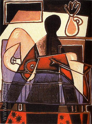 The Shadow on the Woman 1953 - Pablo Picasso reproduction oil painting