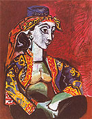 Jacqueline in Turkish Costume 1953 - Pablo Picasso reproduction oil painting