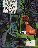 Claude and Paloma Drawing 1954 - Pablo Picasso reproduction oil painting