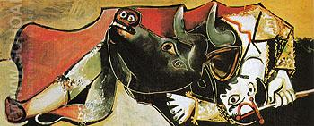 Bullfight Scene 1955 - Pablo Picasso reproduction oil painting
