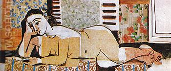Great Reclining Nude with Crossed Arms 1955 - Pablo Picasso reproduction oil painting