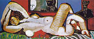 Great Reclining Nude The Voyeurs 1955 - Pablo Picasso reproduction oil painting