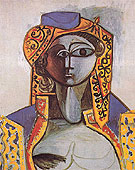 Jacqueline in Turkish Costume 1955 - Pablo Picasso reproduction oil painting