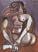 Seated Nude 1956 - Pablo Picasso reproduction oil painting