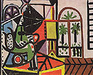 Woman in the Studio 1956 - Pablo Picasso reproduction oil painting