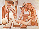 Two Women on the Beach 1956 - Pablo Picasso reproduction oil painting