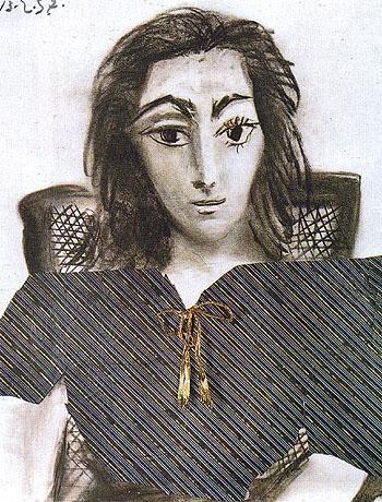 Portrait of Jacqueline 1957 - Pablo Picasso reproduction oil painting