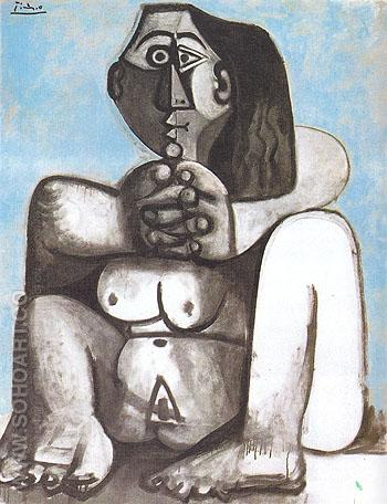 Seated Nude 1959 - Pablo Picasso reproduction oil painting