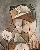 Seated Nude B 1959 - Pablo Picasso reproduction oil painting