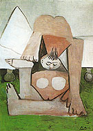Nude on a Sofa 1960 - Pablo Picasso reproduction oil painting