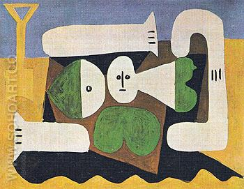 Bather with Sand Shovel 1960 - Pablo Picasso reproduction oil painting
