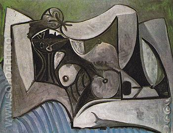 Reclining Nude 1960 - Pablo Picasso reproduction oil painting