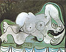 Reclining Nude 1961 - Pablo Picasso reproduction oil painting