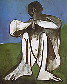 Flute Player 1962 - Pablo Picasso reproduction oil painting