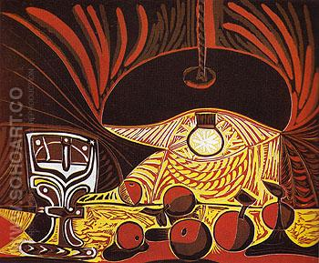Still Life by Lamplight 1962 - Pablo Picasso reproduction oil painting