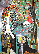 The Artist 1963 - Pablo Picasso reproduction oil painting