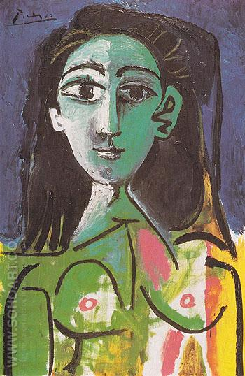 Portrait of Jacqueline 1963 - Pablo Picasso reproduction oil painting