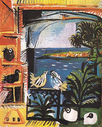 The Pigeons 1957 - Pablo Picasso reproduction oil painting
