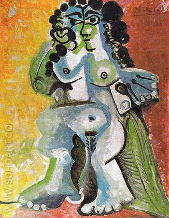 Seated Nude 1965 - Pablo Picasso reproduction oil painting