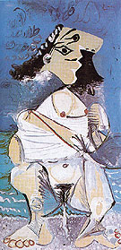 Woman Pissing 1965 - Pablo Picasso reproduction oil painting