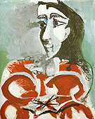 Portrait of Jacqueline 1965 - Pablo Picasso reproduction oil painting